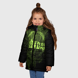 Куртка зимняя для девочки Green Day: Acid Voltage цвета 3D-черный — фото 2