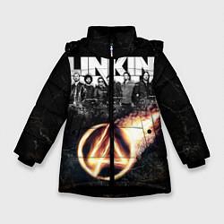 Куртка зимняя для девочки Linkin Park: Comet цвета 3D-черный — фото 1