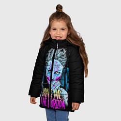 Детская зимняя куртка для девочки с принтом BMTH: Acid Girl, цвет: 3D-черный, артикул: 10073642606065 — фото 2