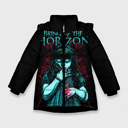 Куртка зимняя для девочки BMTH: Zombie Girl цвета 3D-черный — фото 1
