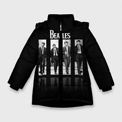 Куртка зимняя для девочки The Beatles: Man's цвета 3D-черный — фото 1