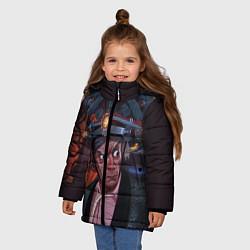 Куртка зимняя для девочки Emmett Lathrop Brown цвета 3D-черный — фото 2