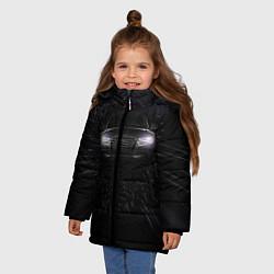 Куртка зимняя для девочки Audi цвета 3D-черный — фото 2