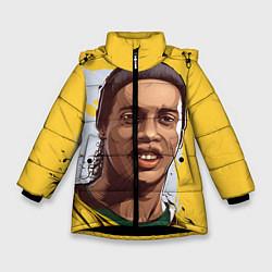 Куртка зимняя для девочки Ronaldinho Art цвета 3D-черный — фото 1
