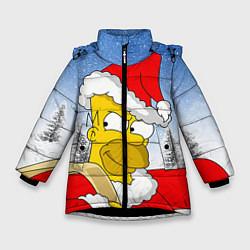 Куртка зимняя для девочки Санта Гомер цвета 3D-черный — фото 1