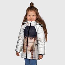 Детская зимняя куртка для девочки с принтом Jeon Jung Kook, цвет: 3D-черный, артикул: 10076888306065 — фото 2