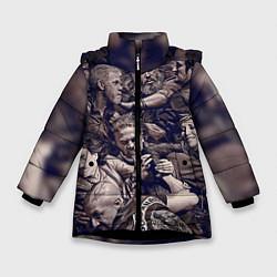 Куртка зимняя для девочки Sons Of Anarchy цвета 3D-черный — фото 1