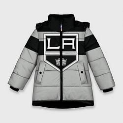 Куртка зимняя для девочки Los Angeles Kings цвета 3D-черный — фото 1