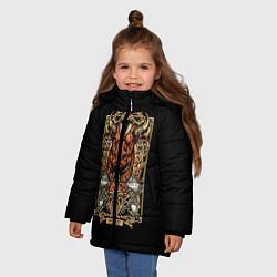 Куртка зимняя для девочки Телец цвета 3D-черный — фото 2
