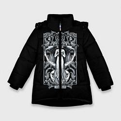Куртка зимняя для девочки Водолей цвета 3D-черный — фото 1