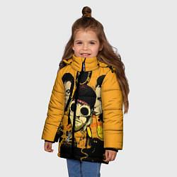 Куртка зимняя для девочки Группа Нирвана цвета 3D-черный — фото 2