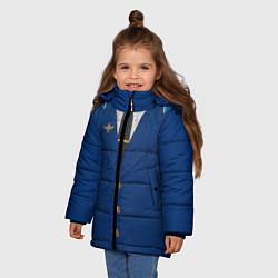 Куртка зимняя для девочки Китель цвета 3D-черный — фото 2