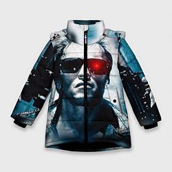 Куртка зимняя для девочки T-800 цвета 3D-черный — фото 1