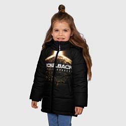 Куртка зимняя для девочки Nickelback: No fixed address цвета 3D-черный — фото 2