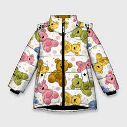 Куртка зимняя для девочки Любимые медвежата цвета 3D-черный — фото 1