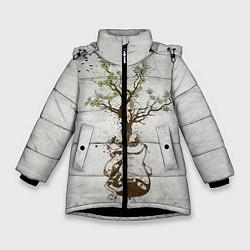 Куртка зимняя для девочки Three Days Grace: Tree цвета 3D-черный — фото 1