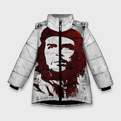 Куртка зимняя для девочки Че Гевара цвета 3D-черный — фото 1
