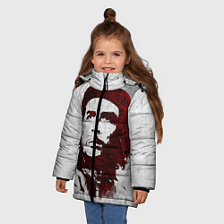 Куртка зимняя для девочки Че Гевара цвета 3D-черный — фото 2
