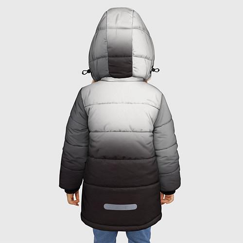 Зимняя куртка для девочки АлисА: Трасса E95 / 3D-Черный – фото 4