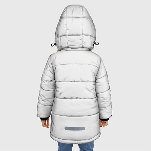 Зимняя куртка для девочки Кино: Виктор Цой / 3D-Черный – фото 4