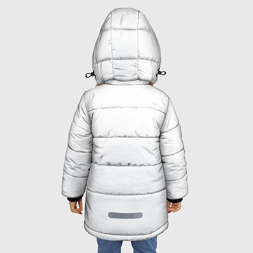 Зимняя куртка для девочки Группа Пикник / 3D-Черный – фото 4