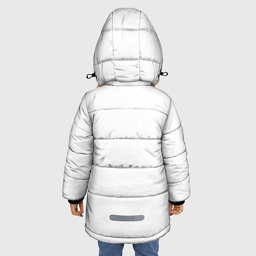Зимняя куртка для девочки Panda Love / 3D-Черный – фото 4