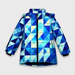 Куртка зимняя для девочки Синяя геометрия цвета 3D-черный — фото 1