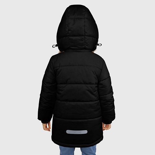 Зимняя куртка для девочки Есенин Ч/Б / 3D-Черный – фото 4