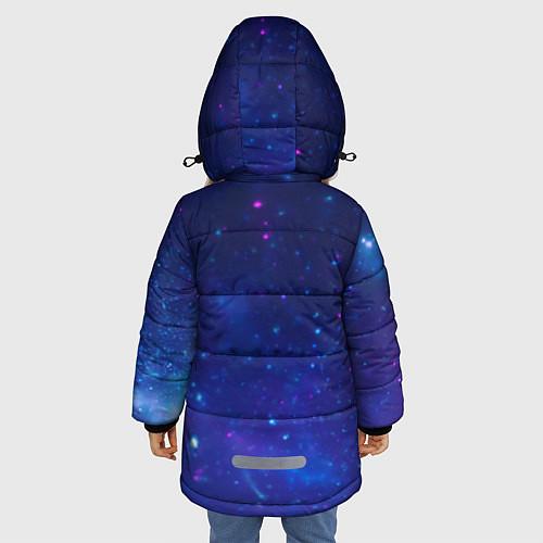 Зимняя куртка для девочки Лев SWAG / 3D-Черный – фото 4
