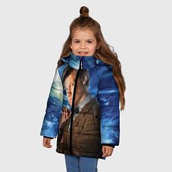 Куртка зимняя для девочки 11th Doctor Who цвета 3D-черный — фото 2