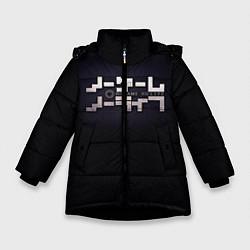 Куртка зимняя для девочки No Game No Life лого цвета 3D-черный — фото 1