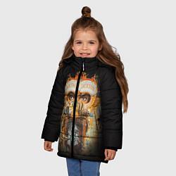 Куртка зимняя для девочки Michael Jackson Show цвета 3D-черный — фото 2