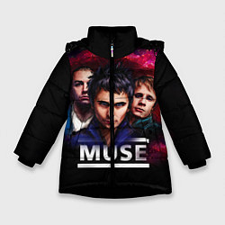 Куртка зимняя для девочки Muse Band цвета 3D-черный — фото 1