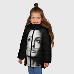 Куртка зимняя для девочки Mono Jolie цвета 3D-черный — фото 2