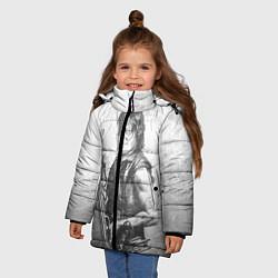 Куртка зимняя для девочки Дэрил цвета 3D-черный — фото 2