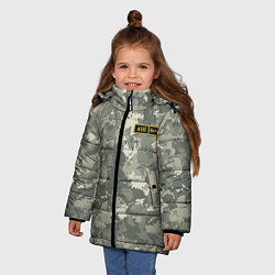 Куртка зимняя для девочки A II + цвета 3D-черный — фото 2