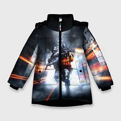 Детская зимняя куртка для девочки с принтом Battlefield Hardline, цвет: 3D-черный, артикул: 10085218406065 — фото 1