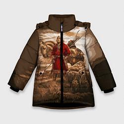 Куртка зимняя для девочки Русь священная цвета 3D-черный — фото 1