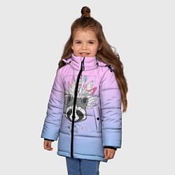 Куртка зимняя для девочки Raccoon: Free Spirit цвета 3D-черный — фото 2