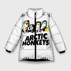 Куртка зимняя для девочки Arctic Monkeys: Music Wave цвета 3D-черный — фото 1