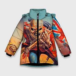 Куртка зимняя для девочки Iron Maiden: Crash arrow цвета 3D-черный — фото 1