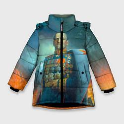 Куртка зимняя для девочки Жуков цвета 3D-черный — фото 1