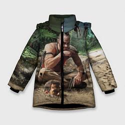 Куртка зимняя для девочки Far Cry цвета 3D-черный — фото 1