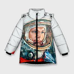 Куртка зимняя для девочки Гагарин в полете цвета 3D-черный — фото 1