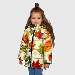 Куртка зимняя для девочки Осень цвета 3D-черный — фото 2