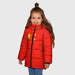 Куртка зимняя для девочки Китай цвета 3D-черный — фото 2