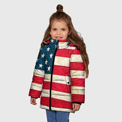 Куртка зимняя для девочки США цвета 3D-черный — фото 2