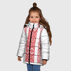 Куртка зимняя для девочки Вышивка 46 цвета 3D-черный — фото 2