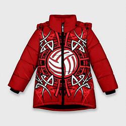 Куртка зимняя для девочки Волейбол 34 цвета 3D-черный — фото 1