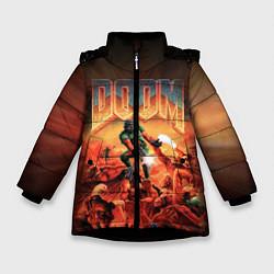 Куртка зимняя для девочки DOOM: 1993 цвета 3D-черный — фото 1